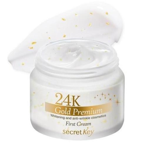 Крем для лица с экстрактом золота Secret Key 24K Gold Premium First Cream-фото