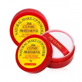 Прозрачная рассыпчатая пудра с шиммером 3W Clinic Natural Make Up Crystal Powder