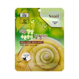 Тканевая маска с муцином улитки 3W Clinic Fresh Snail mask sheet