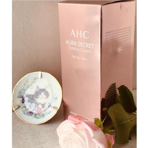 Антивозрастной тонирующий увлажняющий крем AHC Aura Secret Toneup cream SPF30/PA++-фото