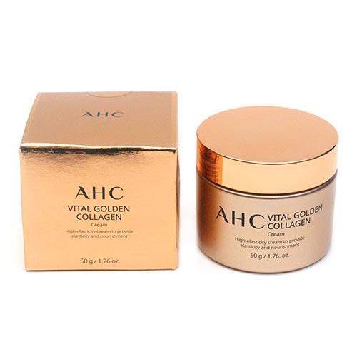 Крем с коллагеном витаминный AHC Vital Golden Collagen Cream-фото