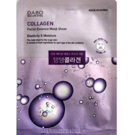 Маска для лица с гидролизованным коллагеном DABO Collagen Facial Essence Mask Sheet