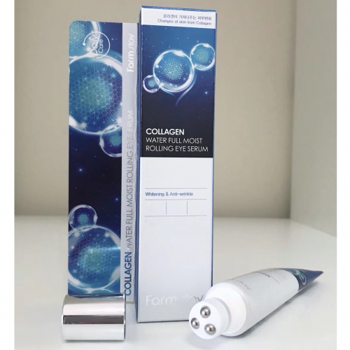 Cыворотка  - роллер с гидролизованным коллагеном Farm Stay Collagen Water Full Moist Rolling eye serum-фото