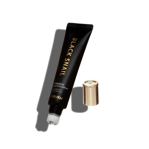 Премиум сыворотка для кожи вокруг глаз с черной улиткой FarmStay Black Snail Premium Rolling Eye Serum-фото