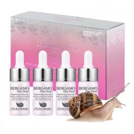 Набор сывороток для лица с муцином улитки  Bergamo Pure Snail Brightening