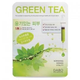 Тканевая маска с экстрактом зеленого чая DABO Green Tee Facial Essence Mask Sheet