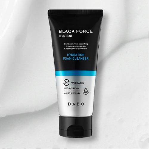 Увлажняющая пенка для мужской кожи DABO Black Force For Men Hydration Foam Cleanser-фото