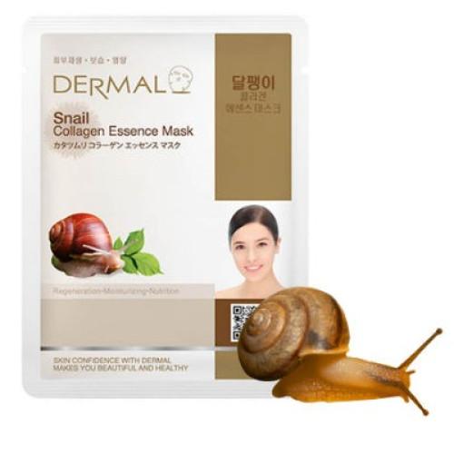 Набор из 10 тканевых масок с муцином улитки Dermal Snail Collagen Essence Mask-фото
