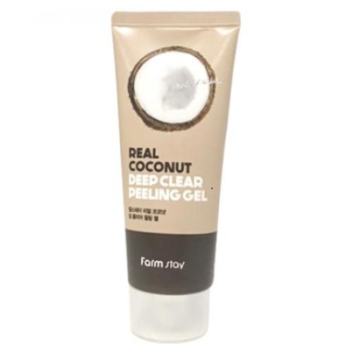 Пилинг - гель с кокосом Farm Stay Real Coconut Deep Clear Peeling gel-фото
