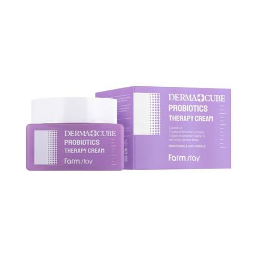 Антивозрастной крем для лица с пробиотиками Farm Stay Derma Cube probiotics therapy cream-фото