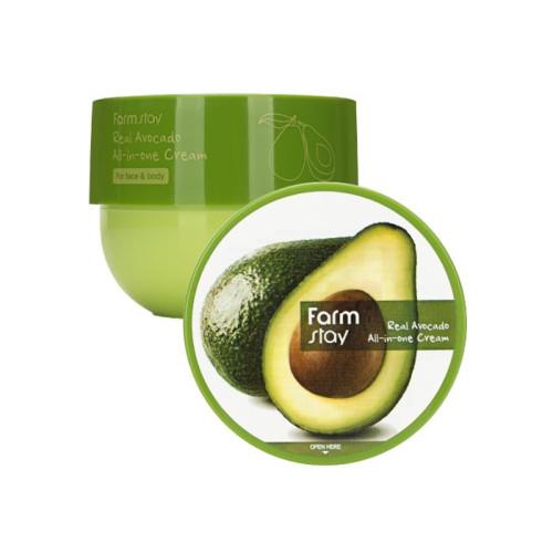 Многофункциональный крем для  питания и увлажнения кожи лица и тела Farm Stay Real Avocado All-in-one cream-фото