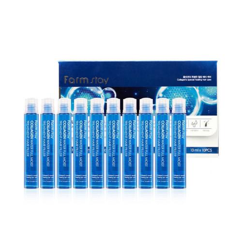 Набор ампул для волос с коллагеном Farm Stay Collagen Water Full Moist Treatment Hair Filler-фото