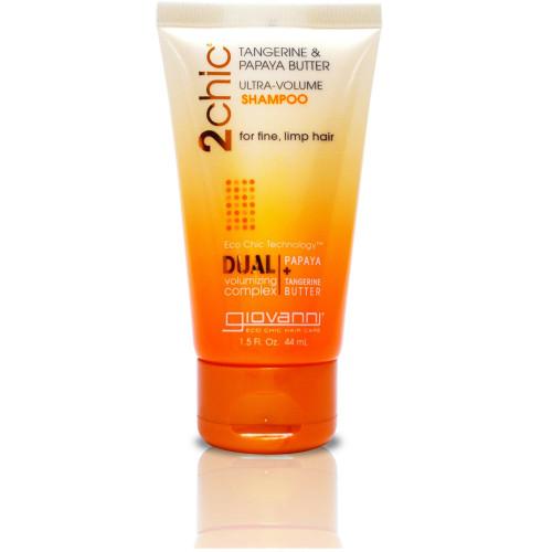 Шампунь для придания объема тонким волосам с экстрактом папайи и маслом мандарина Giovanni 2chic Ultra - Volume shampoo-фото