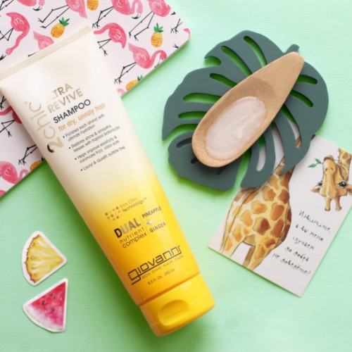 Шампунь для волос с экстрактом ананаса и имбирем Giovanni Shampoo 2сhic Ultra Revive for dry, unruly hair-фото