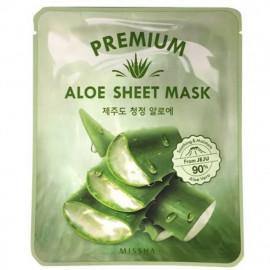 Тканевая маска для лица с алоэ вера Missha Premium Aloe sheet mask