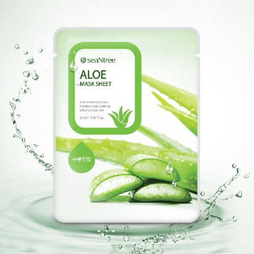 Увлажняющая маска с экстрактом алоэ SeaNtree Aloe mask sheet -фото