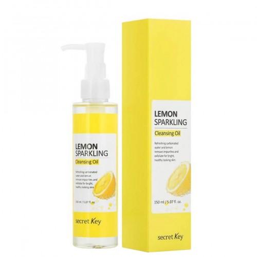 Гидрофильное масло для снятия макияжа с лимоном Secret Key Lemon Sparkling Cleansing Oil-фото