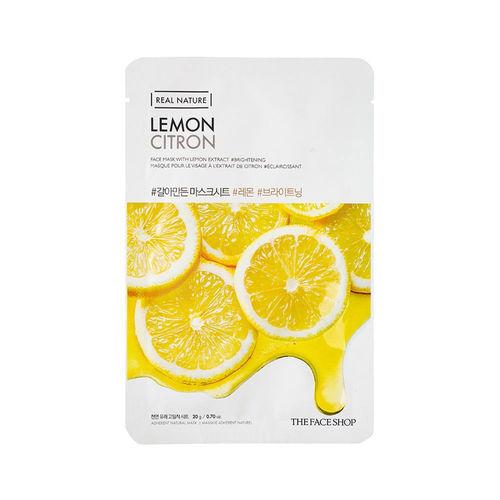 Лимонная маска для лица The Face Shop Real Nature Lemon Citron-фото
