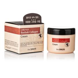Крем для восстановления кожи с гидролизованным коллагеном и экстрактом баобаба The SAEM Care Plus Baobab Collagen cream