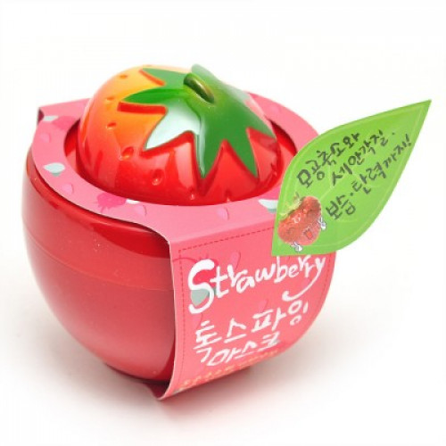 Очищающая глиняная маска с маслом ши и клубникой Urban Dollkiss Strawberry Toxifying mask-фото