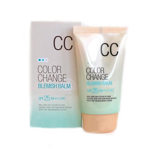 СС крем с технологией цветных капсул Welcos CC Cream Color Change Blemish Balm SPF25 PA++-фото