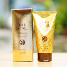 Пенка для умывания с экстрактом улитки Welkos Nature Inside Gold Snail Nutrition Cleansing Foam