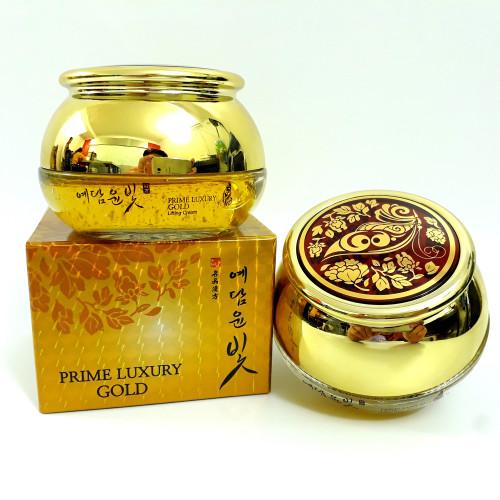 Крем для век с плацентой YE DAM YUN BIT Prime Luxury Gold Intensive eye cream-фото
