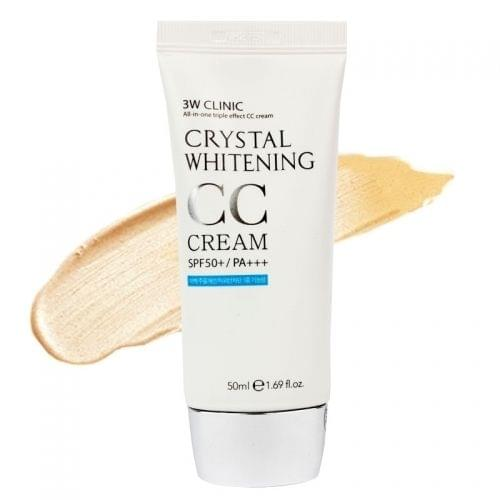 СС крем 3W Clinic Crystal Whitening CC Cream-фото