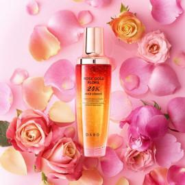 Восстанавливающая и увлажняющая сыворотка DABO Rose Gold Flora 24K Gold essence