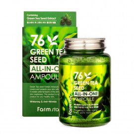 Cыворотка с экстрактом семян зеленого чая FarmStay 76 Green Tea Seed All-In-One Ampoule