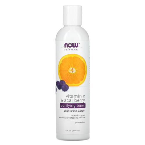 Очищающий тоник с витамином С и ягодами асаи Now Solutions Vitamin C & Acai Berry Purifying Toner Brightening System-фото