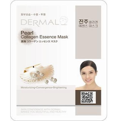 Коллагеновая маска Dermal Pearl Collagen Essence Mask c жемчужной пудрой-фото