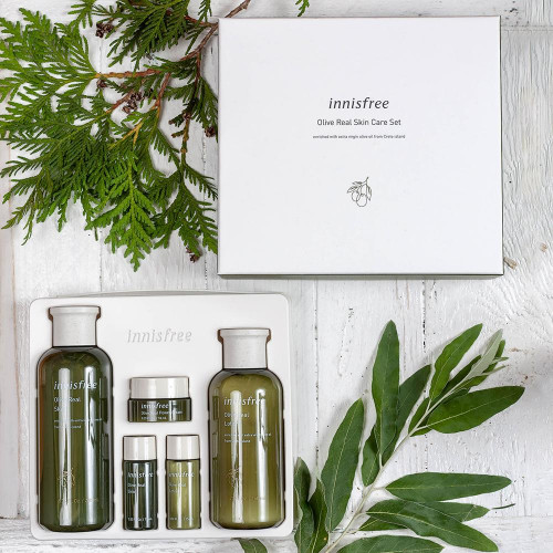 Оливковый набор Innisfree Olive Real Skin Care set-фото