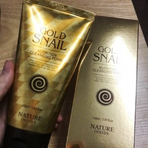 Welkos Nature Inside Gold Snail Nutrition Cleansing Foam-фото