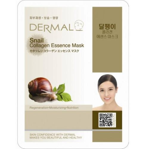 Тканевая маска с муцином улитки Dermal Snail Collagen Essence Mask-фото