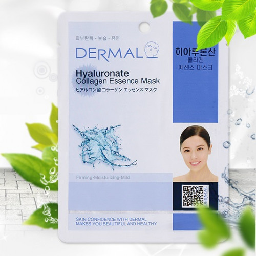 Маска с гиалуроновой кислотой Dermal Hyaluronate Collagen Essence Mask-фото