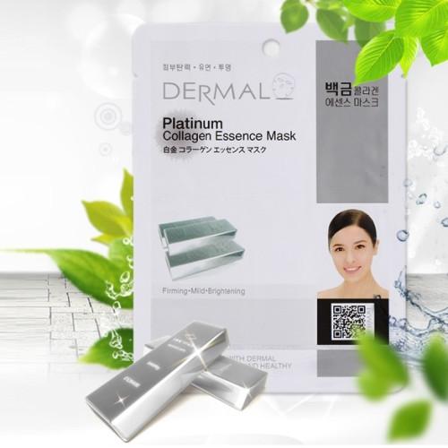Коллагеновая маска с коллоидным раствором платиной Dermal Platinum Collagen Mask -фото
