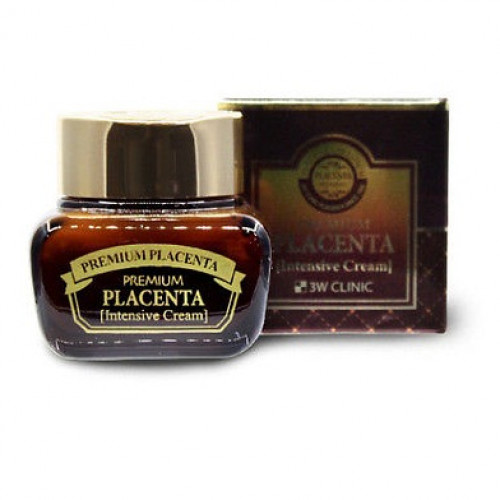 Антивозрастной крем с плацентой 3W Clinic Premium Placenta Intensive Cream-фото