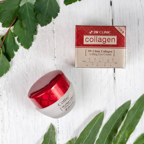 Крем лифтинг для кожи вокруг глаз 3W Clinic Collagen Lifting Eye Cream-фото