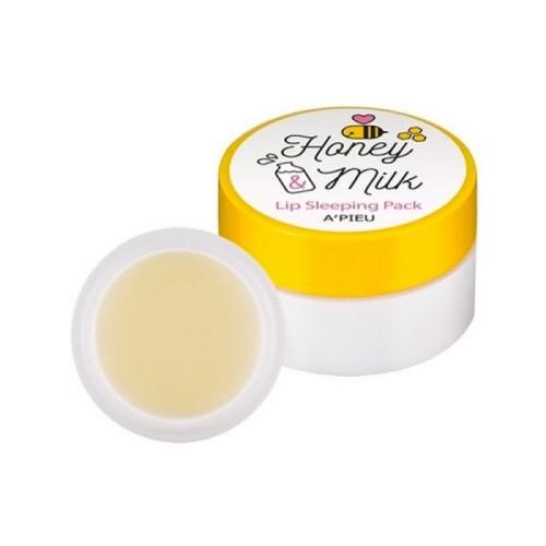 Молочно медовая ночная маска для губ A'Pieu Honey & Milk Lip Sleeplng Pack-фото