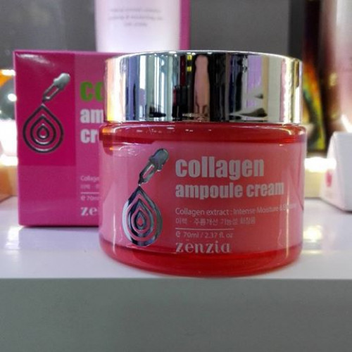 Крем с коллагеном Zenzia Collagen Ampoule Cream-фото