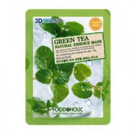 Маска с  экстрактом зелёного чая FoodAHolic 3D Natural Essence Mask Green Tea